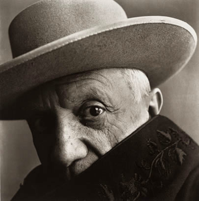 Pablo Picasso, Cannes, France, 1957<br> <i>Image: Irving Penn/ Morgan Library & Museum</i>