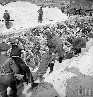 Берген-Белсен. 1945