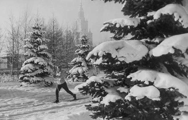 Зима на Ленгорах. 1960-е