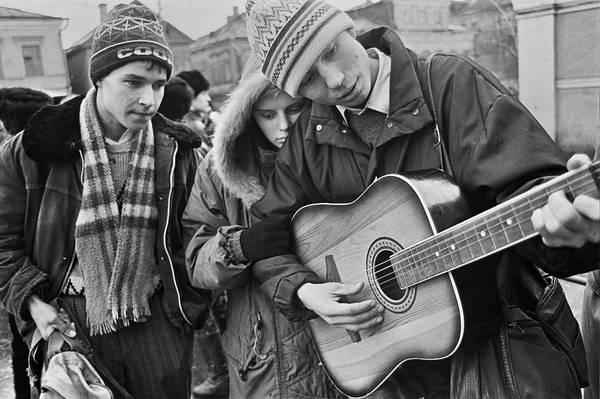 ©Фарит Губаев. «Проводы в армию. Казань,1987»