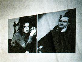 Фотография Гарри Бенсона (слева) как часть работы Лоррейн О