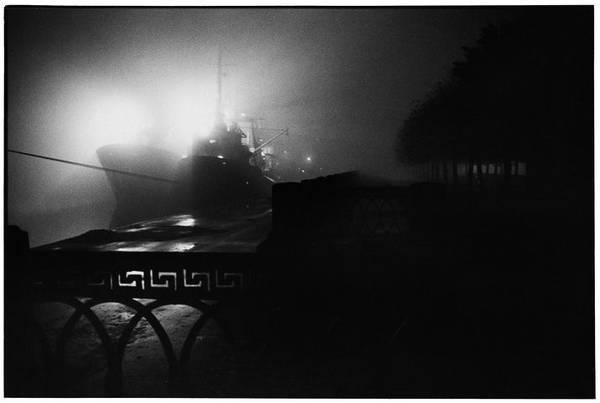 ©Борис Смелов. «Корабли у набережной Лейтенанта Шмидта. 1985»