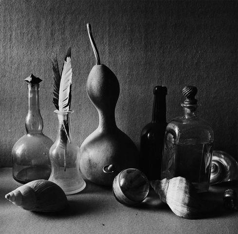 ©Борис Смелов. «Натюрморт с фигурной тыквой I. 1982»