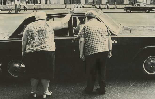 Александр Бородулин<br> Московское такси. 1968<br> Собрание автора