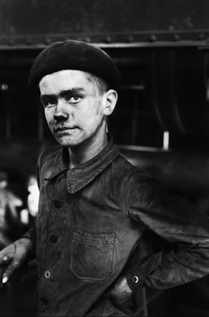 Сабин Вайс.<br>  Молодой шахтер, север Франции. 1955