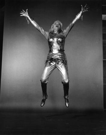 "Philippe Halsman. Jayne Mansfield, 1953. 10 x 8"" silver print. Stamped on verso."