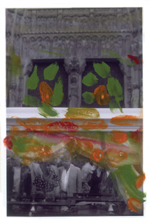 Flowers for Lionel Hampton, 2002. Hand-painted photograph.  7 x 5 inches. © Ming Smith