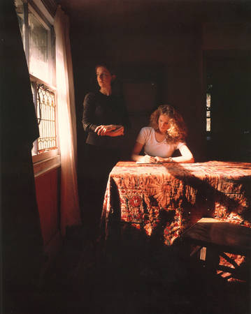 Tom Hunter. Girl Writing an Affidavit. 1997<br>  Cibachrome print, 24 x 20 inch