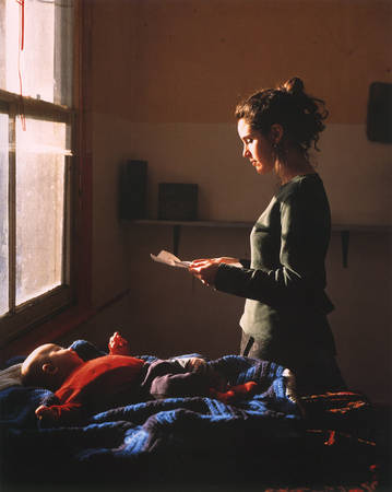 Tom Hunter. Woman Reading Possession Order. 1998<br>  cibachrome print mounted on board, 150 x 120 cm