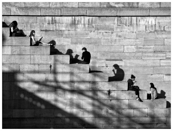 Дмитрий Зверев (Москва, Россия)<br> Париж. Посиделки на набережной