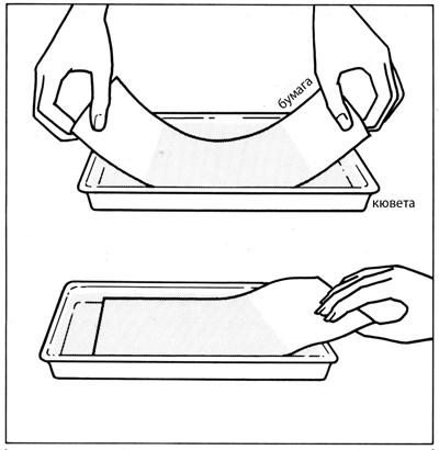 Илл. 3. Покрытие бумаги солевым раствором