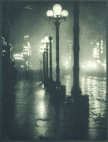 Alvin Langdon Coburn, Broadway at Night From New York (1910), 1910