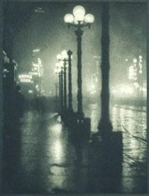 Alvin Langdon Coburn, Broadway at Night From New York (1910), 1910