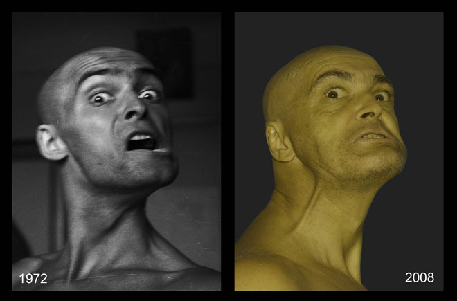 "Валера и Наташа Черкашины<br>  ""Эволюция лица"", 1972-2008, лямбда принт"