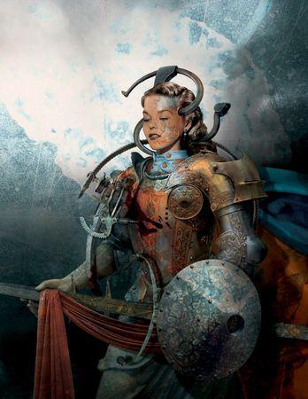 """Виктор Коен, США / Греция<br> Из серии """"Дамы в доспехах"""", 2002, цифровая печать, 50х40см"""
