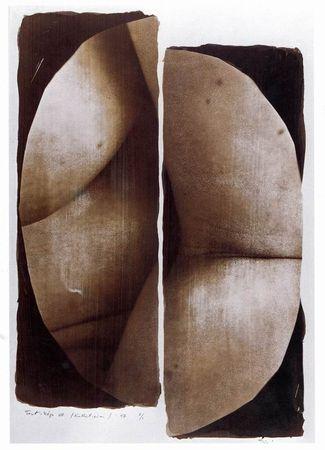 Lajos Siro. Body images VIII. 1998. Kallitype. 40x22 cm