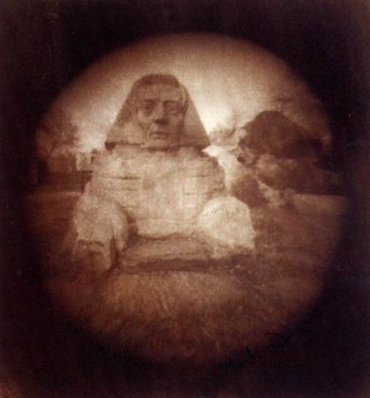 Mark Duncan. Sphinx. 1999. Van Dyke print. 6 cm in diameter