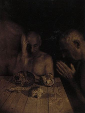Jan van Leeuwen. The meal at Emmaus.  1996. Kallitype. 40x30 cm