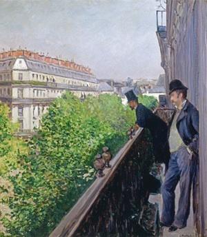 Gustave Caillebotte. Un Balcon. 1880, huile sur toile, 69 x 62 cm, collection privйe Courtesy Comitй Caillebotte, Paris