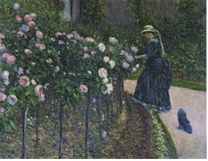 Gustave Caillebotte. Les Roses, jardin du Petit Gennevilliers 1886, huile sur toile, 89 x 116 cm, collection privйe © Photo Alberto Ricci