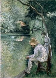 Gustave Caillebotte. Pкche а la ligne. 1878, huile sur toile, 157 x 113 cm, collection privйe Courtesy Comitй Caillebotte, Paris