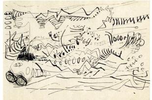 Jackson Pollock.  Untitled, c. 1945
