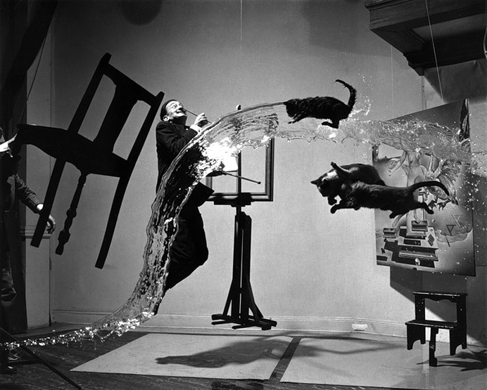 Филипп Халсман (Philippe Halsman). Salvador Dali A (Dali Atomicus). Нью Йорк, 1948 Library of Congress Prints and Photographs Division Washington, D.C. 20540 USA