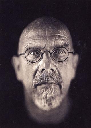 Чак Клоуз «Автопортрет», дагеротип, 2000