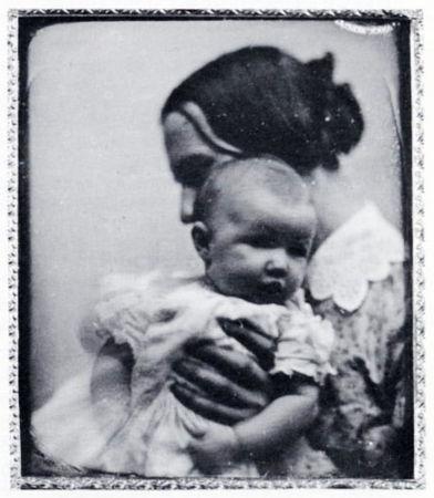 Southworth&Hawes. Портрет жены и дочери. Дагеротип. Без даты. Редкая композиция для ранних дагеротипов
