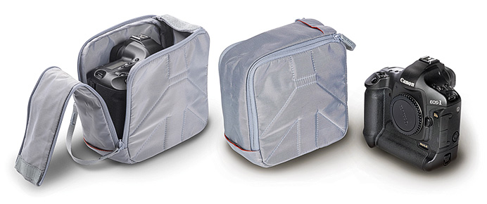 Сумка-кармашек Manfrotto Custodia IX camera pouch Grey и Manfrotto Custodia VIII camera pouch Grey