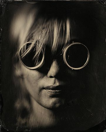 "© Алексей Алексеев. Gogglewoman, амбротип 8х10"""