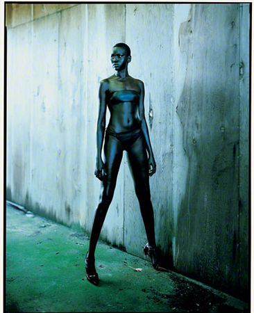 Model Alek Wek photographed by Gilles Bensimon.