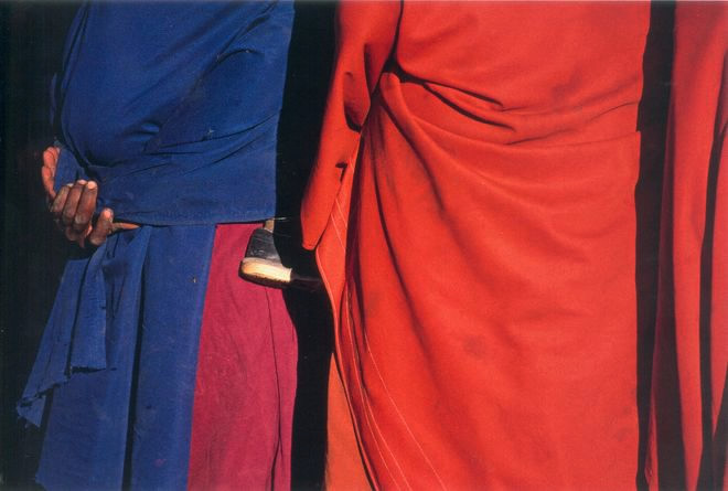 Женщины и ребенок племени Масай. Танзания. Холст, жикле. 75 х 110. 2003