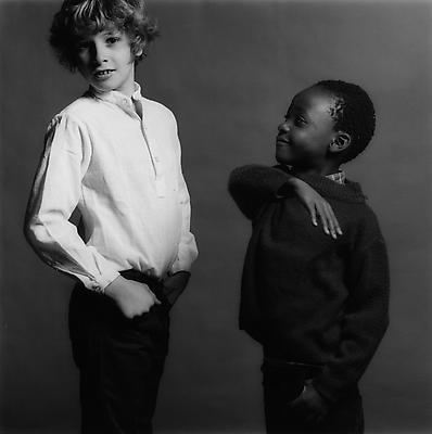 Sebastian and Nda, 1981. Gelatin silver print. Image: 14 x 14 inches (35.6 x 35.6 cm). Paper: 20 x 16 inches (50.8 x 40.6 cm). Edition of 15 with 3 APs. MAP-551. Selected by Nevada participant