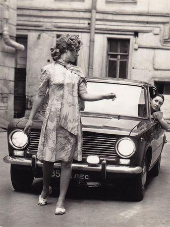 Модель_Евгения Куракина, фотограф_Петр Сегаль, Ленинград, 1973. Собрание Евгении Куракиной