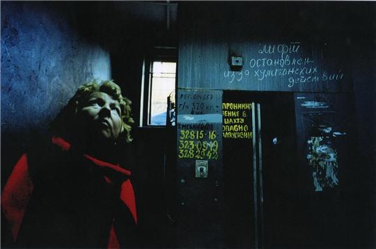 © Francoise Huguier. Ascenseur appartements communautaires