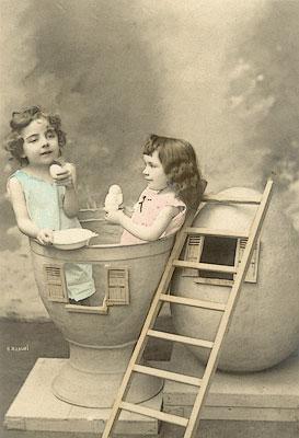 ©Неизвестные фотографы. «Пасхальная открытка»
