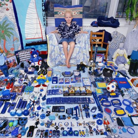 © JeongMee Yoon<br />Cole and His Blue Things, 2006