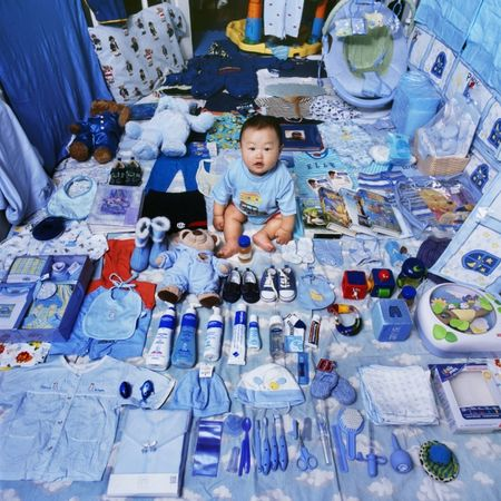 © JeongMee Yoon<br />Jake and His Blue Things, 2006