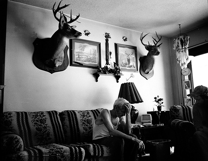 Последний житель поселка Блэйр (Blair), штат Западная Виргиния. © Andrew Lichtenstein