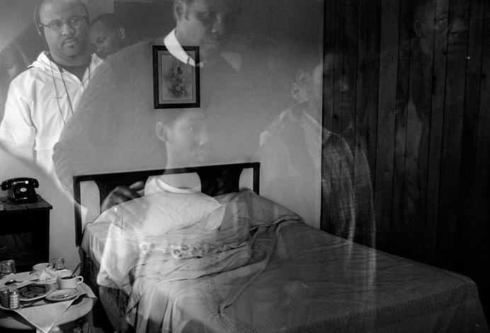 Место убийства Мартина Лютера Кинга в мотеле Lorraine в Мемфисе© Andrew Lichtenstein