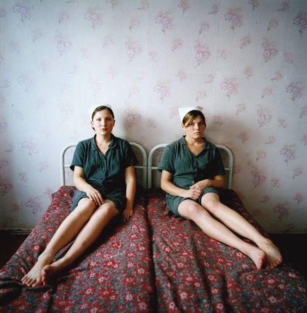 Lena and Katya, Juvenile Prison, 2009 © Michal Chelbin
