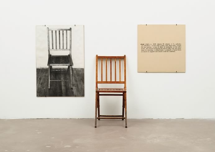 Joseph Kosuth. One and Three Chairs, 1965