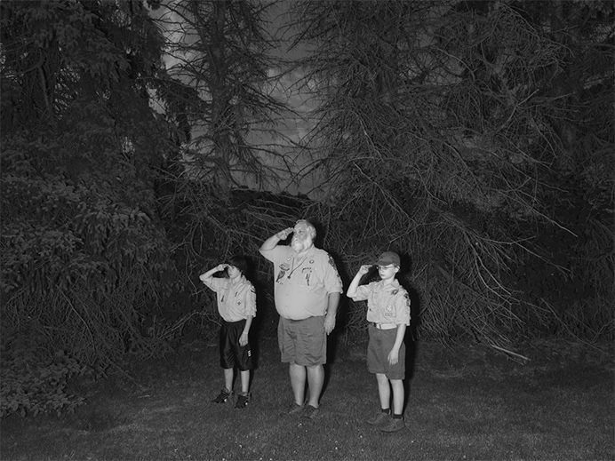 Boy Scouts and Cub Scouts, Troop 86. Dover Burial Park. Dover, Ohio. Photographer Alec Soth