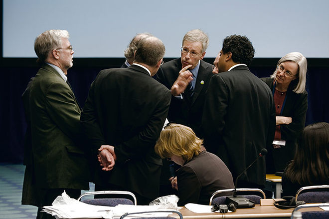 Joel Sternfeld, from the series When It Changed: Photographs from the 11th United Nations Conference on Climate Change (Stйphane Dion, Minister of the Environment, Canada, taken 28 November to 9 December 2005)
