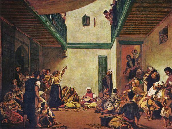 Эжен Делакруа. Еврейская свадьба в Марокко. Дата завершения: 1841