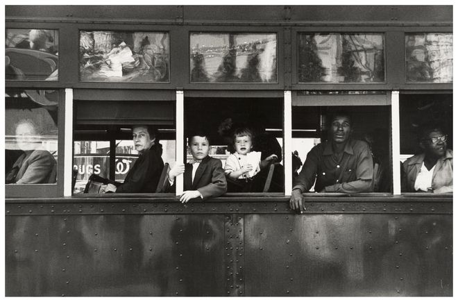 Robert Frank. Trolley. New Orleans. 1955