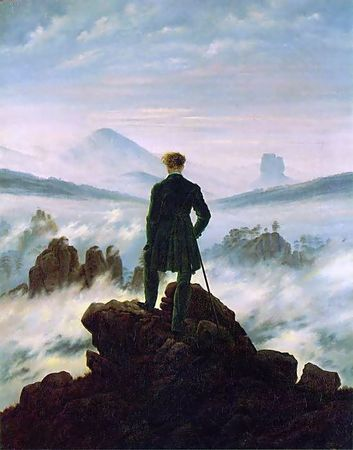 Каспер Девид Фридрих «Странник над морем тумана»