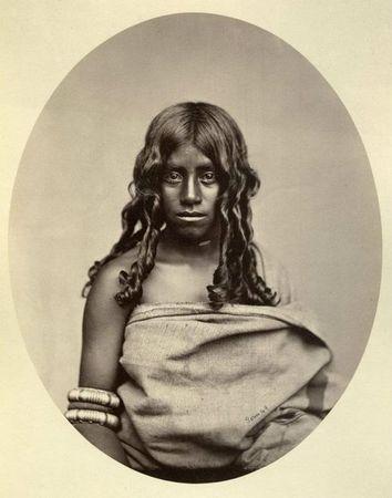 Albert Thomas Watson Penn, Toda-Frau, 1870-80, Albuminabzug