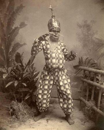 A.W.A. Plate & Co, Shakuntala-Schauspieler, um 1900, Albuminabzug